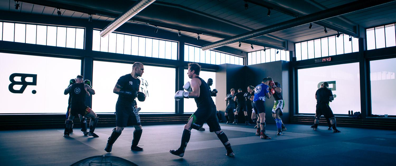 Übungsraum in einem Fitnesscenter